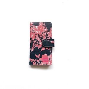 北欧デザイン iPhone手帳型ケース  | midnight shadowblue