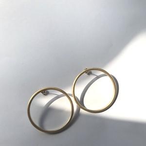 morning ピアス マットゴールド / morning earrings matte gold