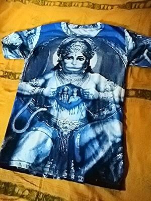 商品番号t-12神様Tシャツ【ハヌマーン(青)】(Size:フリーサイズ・M~L程度)