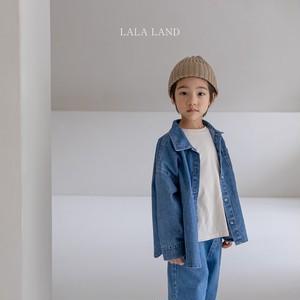 【即納】LALALAND basic denim shirt (韓国子供服 ベーシックデニムシャツ)