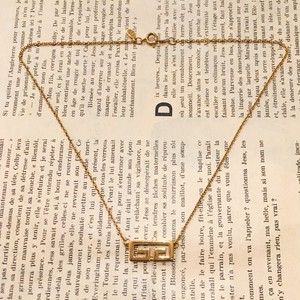 GIVENCHY GGlogo gold necklace
