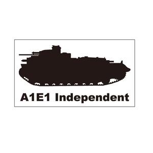 戦車ステッカー A1E1インディペンデント重戦車