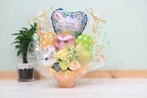 結婚式やお誕生日のお祝いに卓上バルーンギフトY(バルーンアレンジ) 送料込み 引き取りの場合5,000円