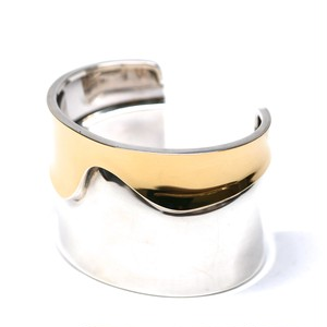 Cartier Collector Vintage Sterling Silver & 18k Gold Bangle