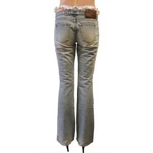 Super Low-rise Denim 'Victoria Beckham' with FAKE G-string/A