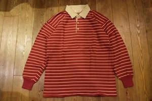 USED USA製 エルエルビーンL.L.Bean ラガーシャツ ラグビージャージ  80s