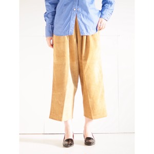 Leather Balloon pants short/Brown