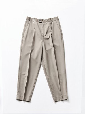 "Lownn ""Neo"" Pleated Wide Trousers Taupe NEO-887-610-429"