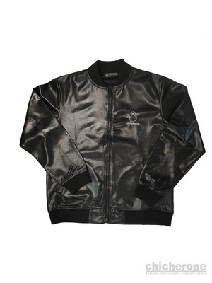 【chi che ro】Faux Leather Jacket BLK