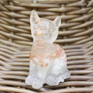 猫型オルゴナイト お座り☆おるごにゃいと ペリステライト