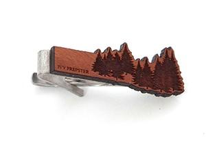 ヴィンテージ チェリーウッド ネクタイピン パインツリー Wooden Pines Tie Bar - Cherry