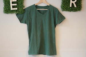 Ouky ヴィンテージウォッシュTシャツ(グリーン)