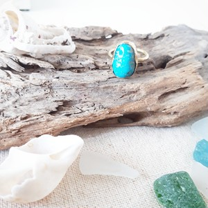 beach ring - kingman turquoise - 12号