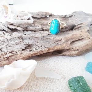 【12号】beach ring - kingman turquoise -