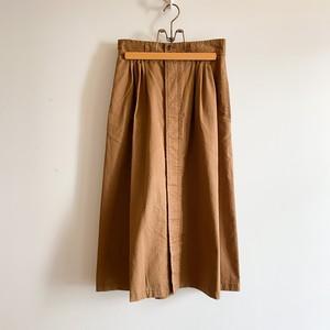 C21653 Chino Cloth narrow tuck Skirt