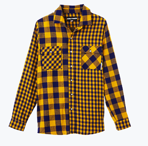 LS PLAID SHIRT  (DOUBLE RAINBOUU )
