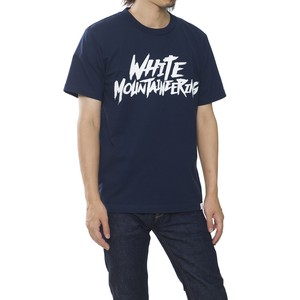"PRINTED T-SHIRT ""WHITE MOUNTAINEERING"" - NAVY"