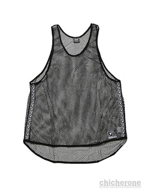 【SILLENT FROM ME】MIST -Net Tank Top- BLACK