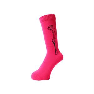 WHIMSY - 32/1 CATHIE SOCKS (Pink)