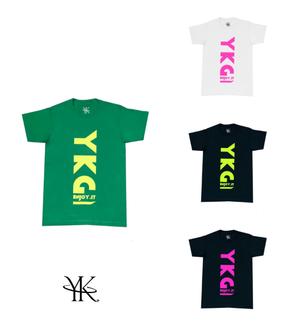 【YKG】蛍光ロゴTシャツ【全7色】【新作】イタリアンウェア【送料無料】《M&W》