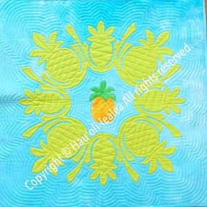 80cmタペストリー パターン(型紙)* パイナップルのタペストリー
