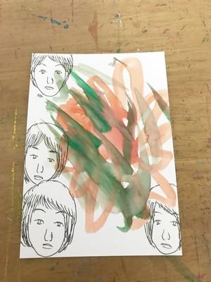 直筆ミニ絵画【花の爆弾】