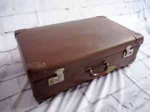 品番0714 本革 古い トランク チョコレートブラウン ヴィンテージ