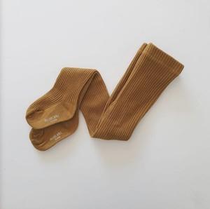 PRECIOUS APRIL / Callie cotton tights Bronz