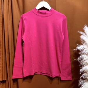 Mockneck color t-shirt  Color : Pink