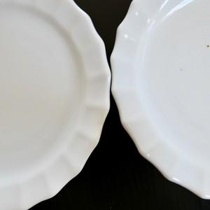 【30980】九谷の白 ハグルマ(1枚) / Kutani White Small Plate / Showa Era