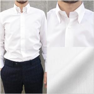 2173-AS3-1 ホワイトタイプライター/セミワイドスナップダウンカラーシャツ!!