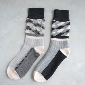 Reversible fringe socks A-S01 グレー