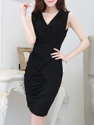 【dress】Stylish elegant V-neck party dress