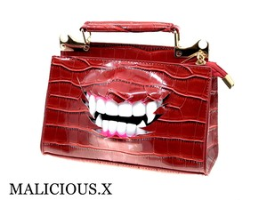 vampire shoulder & handbag /red(crocodile)
