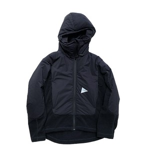 【and wander】top fleece jacket - black -