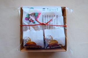 国産小豆と島の藻塩入り和菓子パイ iguri  6個入ラッピング
