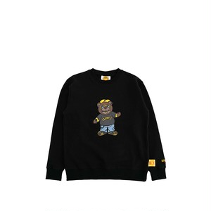EXAMPLY by EXAMPLE BB BEAR CREWNECK for KIDS / BLACK