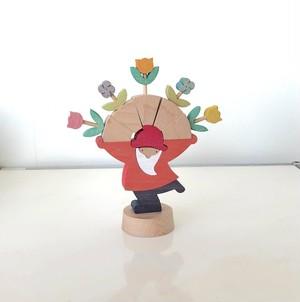 小黒三郎さんのクリスマス 花いっぱい ブナ(未使用在庫品)