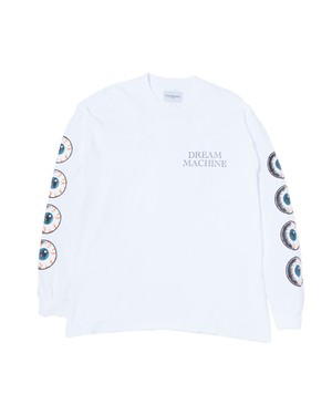 """Last one!"" Eye Ball L/S Tee / WHITE"