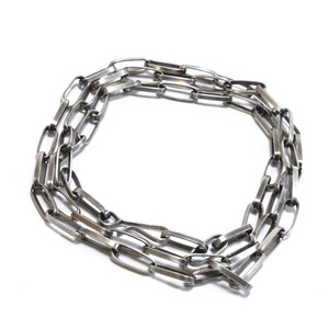 Navajo Sterling Silver Chain Link Necklace by Sally Shirley