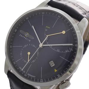 ツェッペリン ZEPPELIN 腕時計 メンズ 7366-3 Flat Line フラットライン 自動巻き ネイビー