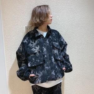 【即納】韓国ファッション タイダイコーデュロイブルゾン