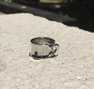 ribbon LOVE RING 幅広 #00614 silver りぼんラブリング幅広/シルバー