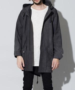 【予約商品:10月上旬入荷予定】Uneven Dying  Packable Big Mods Coat Black