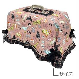 キャリーカバー(ピンクカラフル猫柄 Lサイズ)【CK-011L】