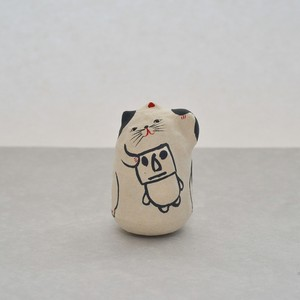 起き上がり小法師 「モアイ招き猫」 / NOZOMI PAPER Factory