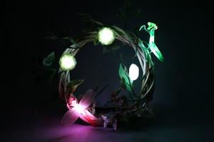 箱庭 リース LEDライト 蟷螂と蜻蛉