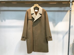 "niuhans""Camel Wool Double Face Coat Dark Camel"""