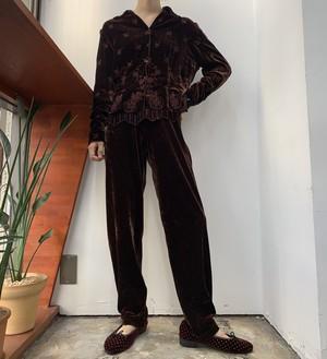 1990s Worthingtom velours easy pants brown 【M】