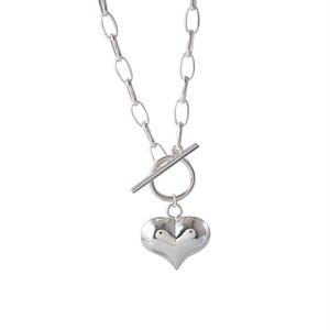 シルバー925heart chain necklace